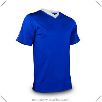 b834f7d0f50 2014 wholesale new custom mens polyester soccer jersey contrast colors v  neck plain design soccer uniforms