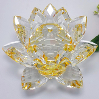 Elegant Colorful Wedding Centerpiece/Car decoration Crystal Lotus flower for promotion wholesale