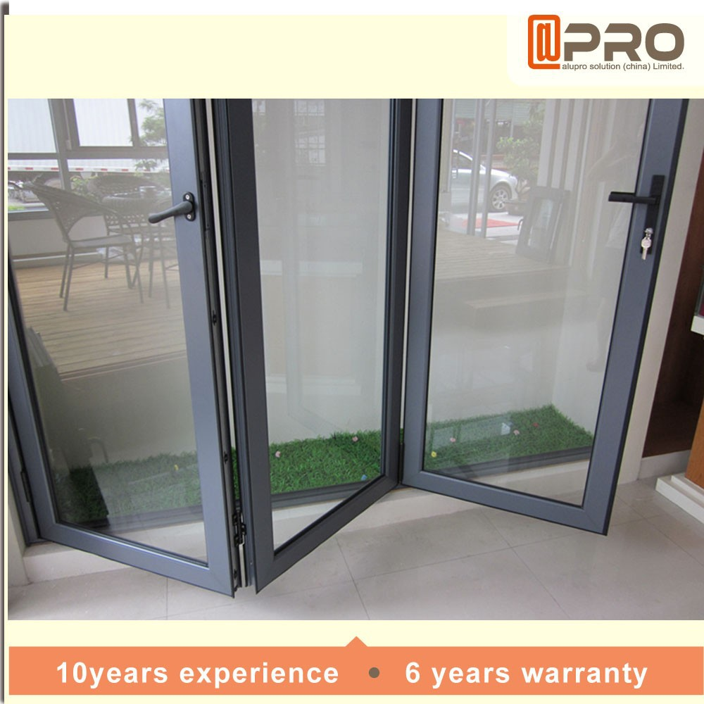 La moda moderna puerta de entrada de vidrio acorde n - Puertas tipo acordeon ...
