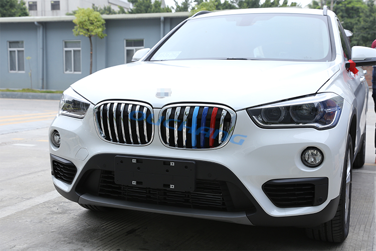 14pcs front grill cover decoration trim for bmw x1 f48. Black Bedroom Furniture Sets. Home Design Ideas