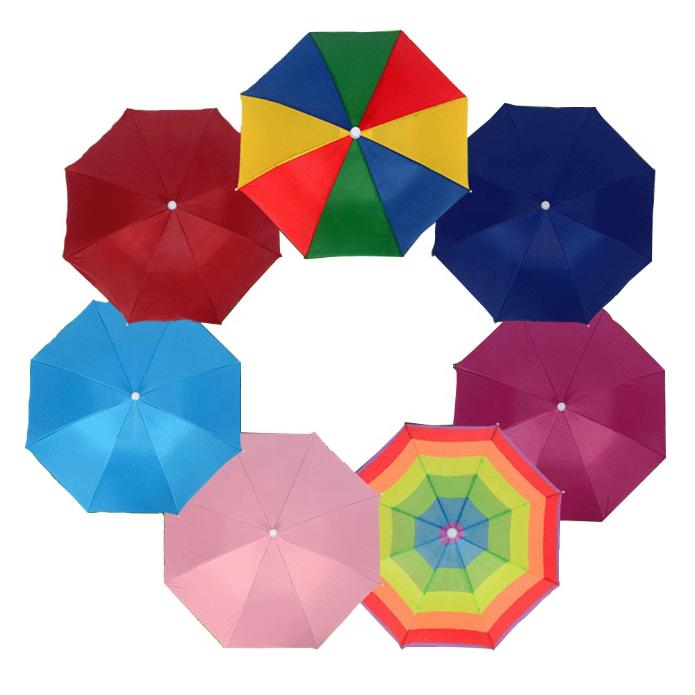 High quality waterproof outdoor head umbrella cap umbrella hat