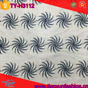 china factories supply wholesale tubular embroidery lace fabric with holes