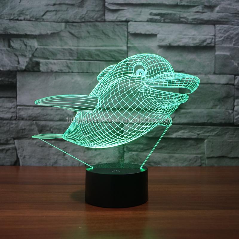 3D زينة ملونة ضوء الليل FS-3326