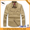 Hot sale item washing clothes comfortable khaki cotton shirts