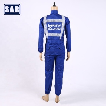 Custom logo blue workers safety coverall work wear uniform/cheat and best well