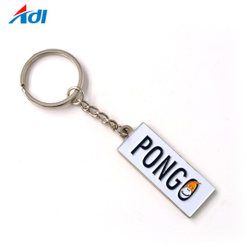 zinc alloy promotion custom magnetic rectangle keychain