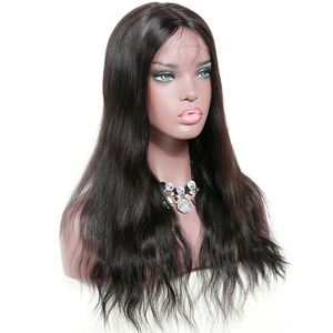 Wholesale Factory Supply High Quality 18 Inch Malaysian Natural Straight 360 Lace Frontal Wig