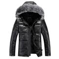 2016 men s new men s thick hooded down jacket short paragraph fox fur collar sheep
