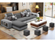 Modern luxury cheap living room fabric L shape corner sectional sofa