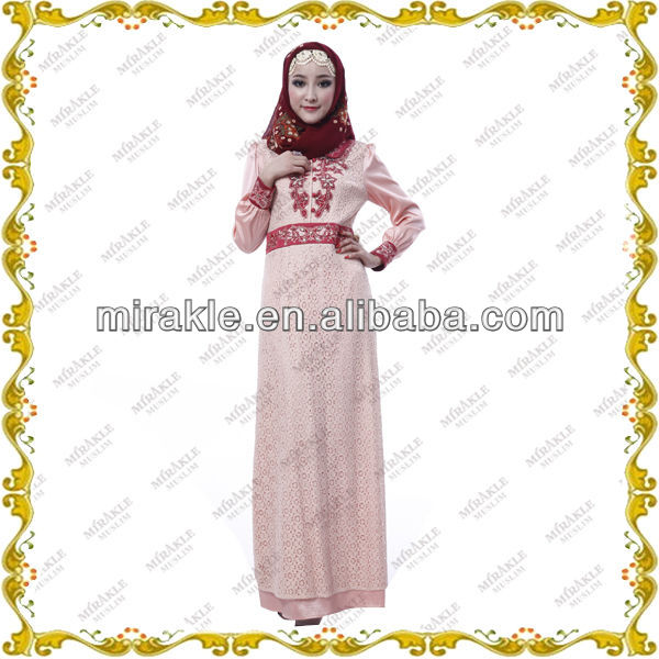MF19292 Lace abaya indonesia muslimah Women Dress
