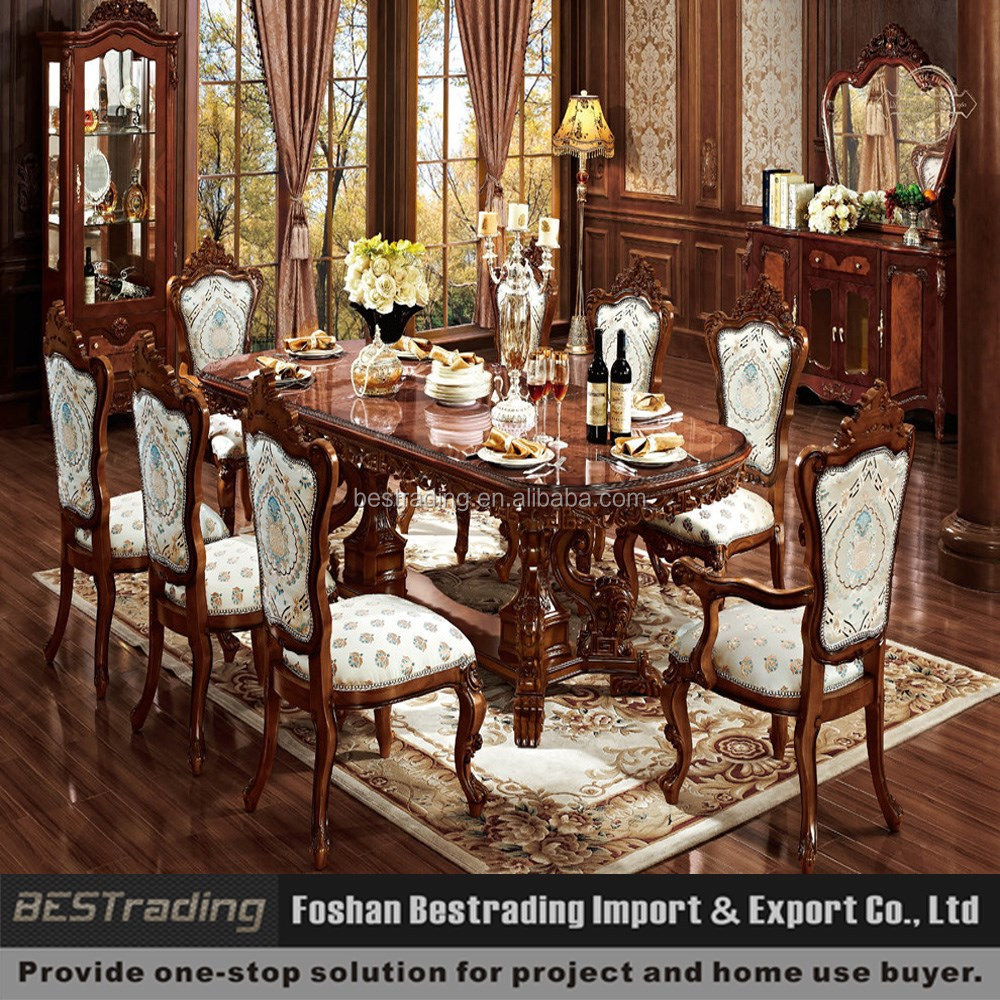 Solid Wood Dining Room Furniture: Solid Wood Carved Dining Room Tables
