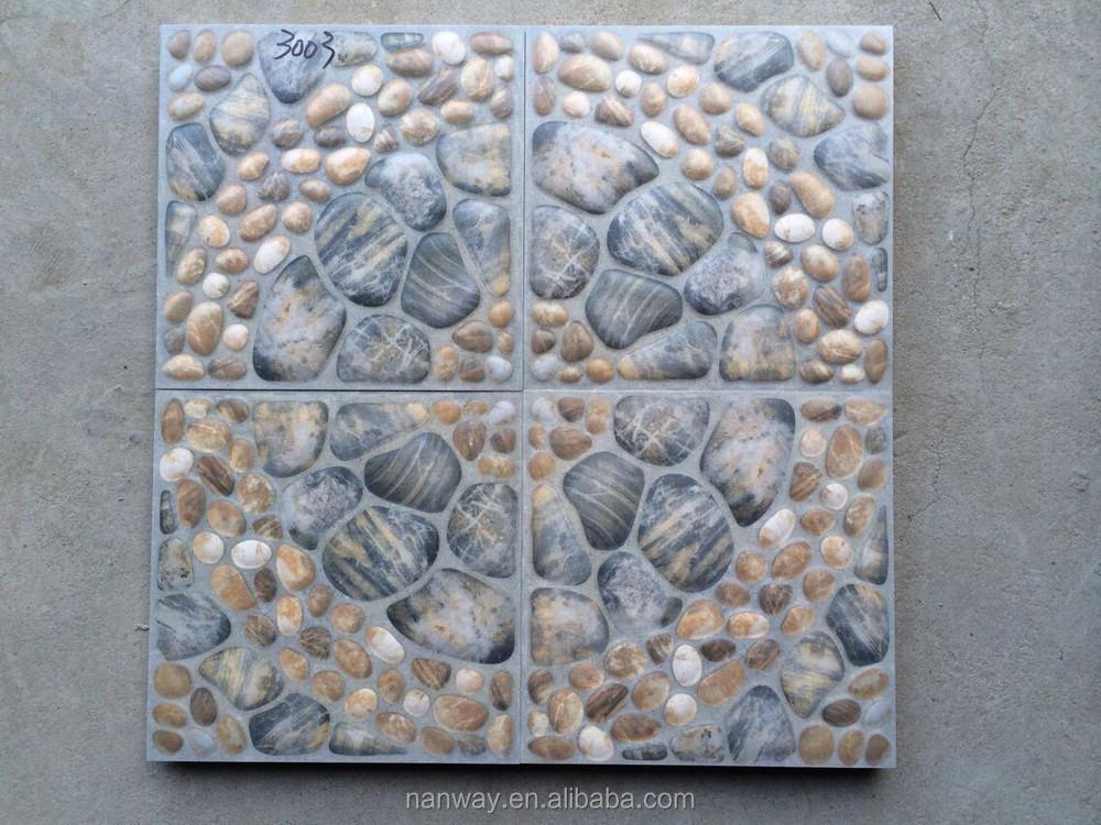 12x12 Outdoor Decorative Embossed Garden Tile