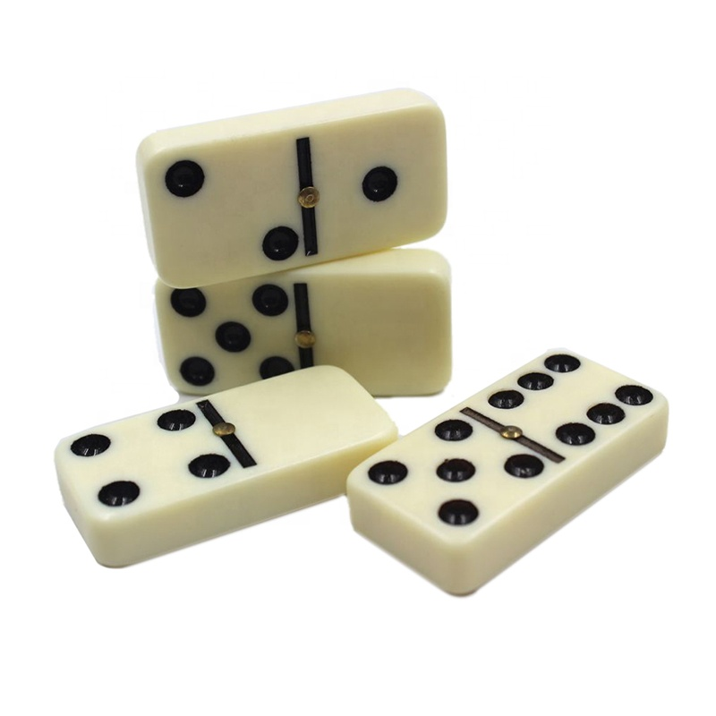 wooden custom dominoes game set double six wooden domino for adult