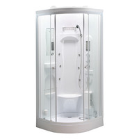 2017 Hot Sale in 2200mm height Shower Bath with Massage jets