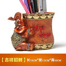 Бесплатная доставка Смола Ручка слон держатель Настольная ручка держатель для карандашницы(Китай)