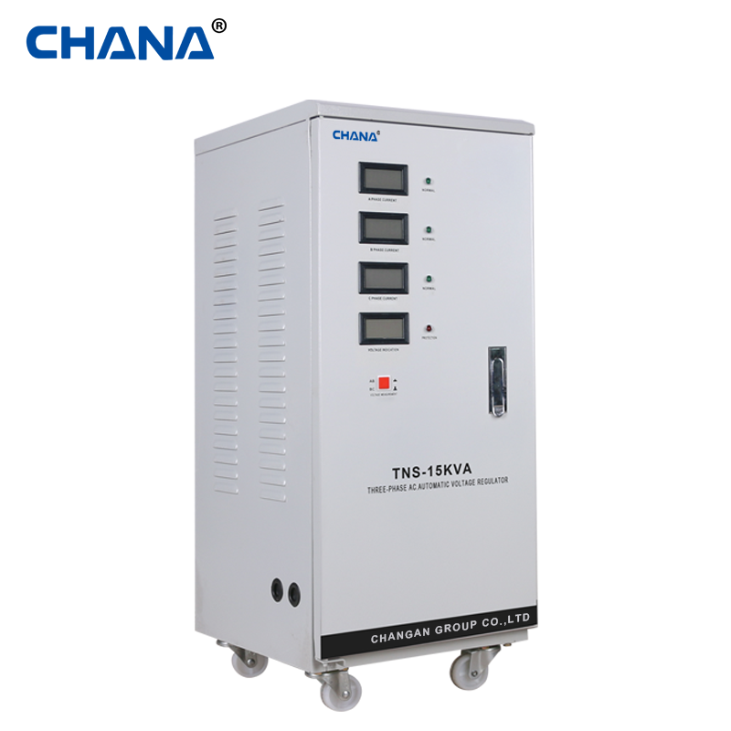 15KVA three phase digital voltage avr stabilizer for elevator voltage protection