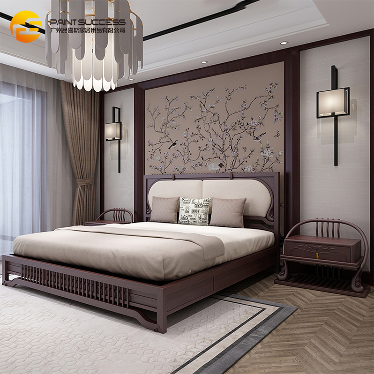 Custom Pine Wood Color Chinese Wooden Bed Legs Single Bed Designs
