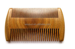 Pocket Wooden Comb Natural Green Sandalwood Super Narrow Tooth Wood Combs No Static Lice Pet Beard Comb Hair Styling Tool