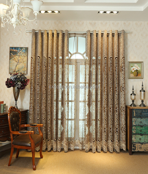 Fashion Polyester Tulle Curtain Fabric With Embroidery Turkish Curtains In London