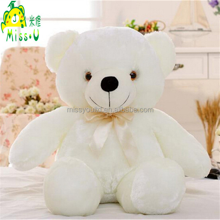 Direct Manufacturer High Quality Stuffed Soft Plush LED Pillow Toys Night Lighting Colorful Bear