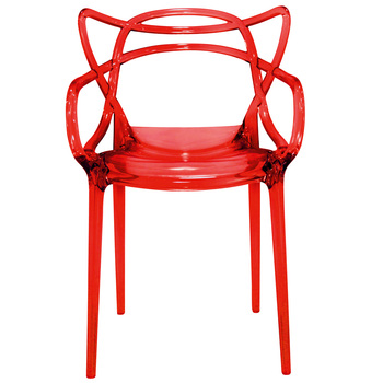 Modern High Quality Polycarbonate Stackable Chair With Bold Details