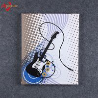 Simple Abstract Guitar Musical Instrument Print Canvas Art from Chinese Factory