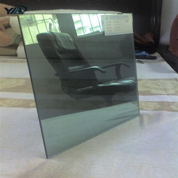 China high quality 4mm 5mm 6mm Black Reflective Float Glass for Window