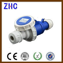 32a 220v electrical industrial extension switched plug & socket