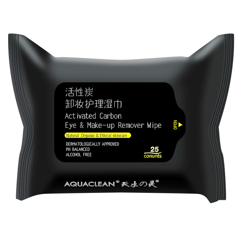 Activated Carbon Eye and Makeup Remover Wipes