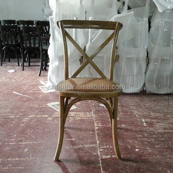 2015 Solid Wood Cross Back Chair For Sale