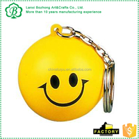 Customized OEM brand PU crafts lovely mini key chains