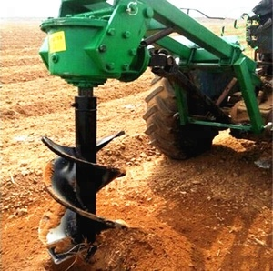 Farming tractor mounted soil drilling fence lowes post hole earth auger digger for hot sale