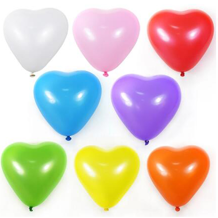 cheap wholesale high quality gold and red heart latex balloon balloon brands for decoration
