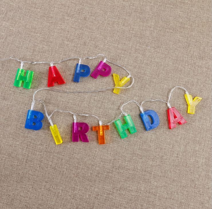 Home Decor Birthday Party Great Varieties Led Letters Lights For Birthday Decorations Professional Sale Multicolor Letter happy Birthday Led String Lights