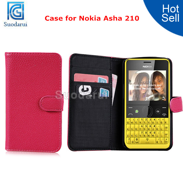 sale retailer 2b99a 151d4 Wallet Leather Case For Nokia Asha 210 Cover Credit Card Slots Pouch - Buy  Cover For Nokia Asha 210,Case For Nokia Asha 210,For Nokia Asha 210 Wallet  ...