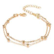 Женские браслеты на ногу EN, браслеты золотого и серебристого цвета Бохо с кристаллами, богемные ювелирные изделия(Китай)