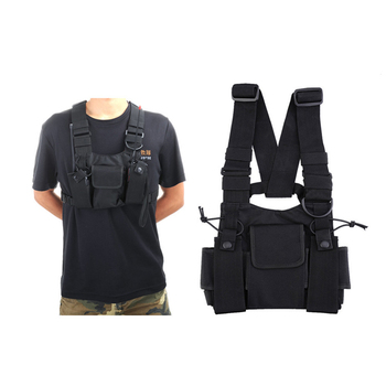 Pack Holster Pouch Chest Vest Pocket Harness Radio Rig radio Harness pouch Bags Buy SUVzpqM