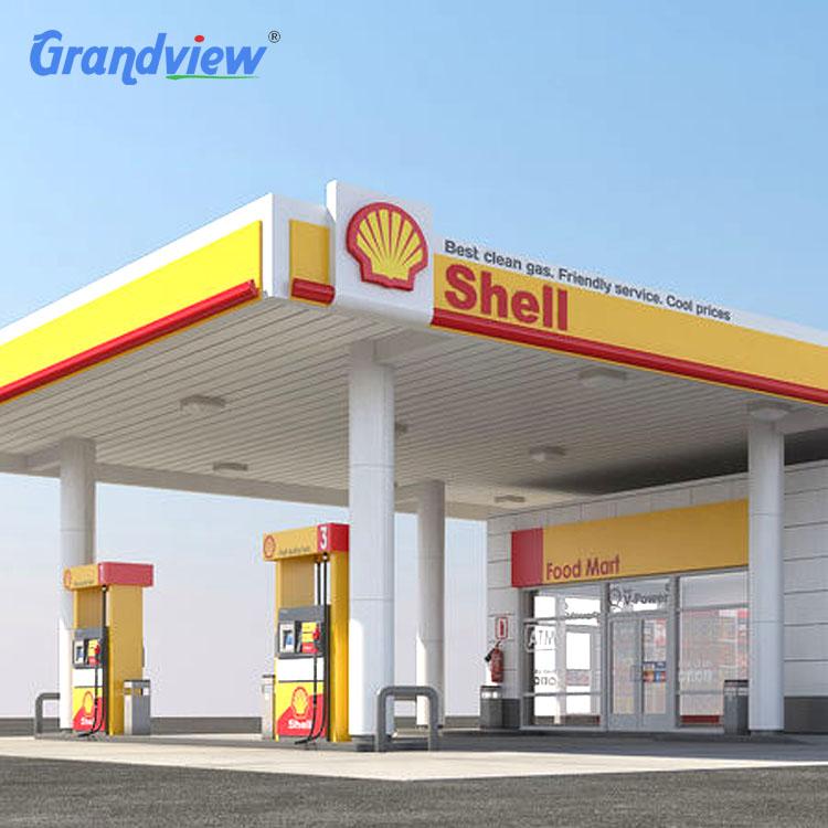 Economic petrol light  pylon sign gas station canopy cost