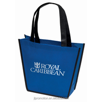 Carnival Non-Woven Tote Inverted trapezoidal shopping bag with Bottom insert