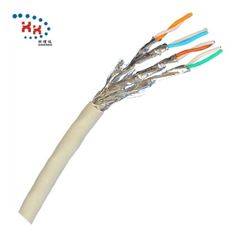 Factory sttranded copper Network cable 23AWG SFTP LSZH 500Mzh cat6a lan cable