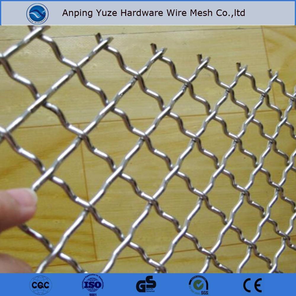 Diamond Shape Lock Crimp / Ss Crimped Wire Meshs - Buy Ss Crimped ...