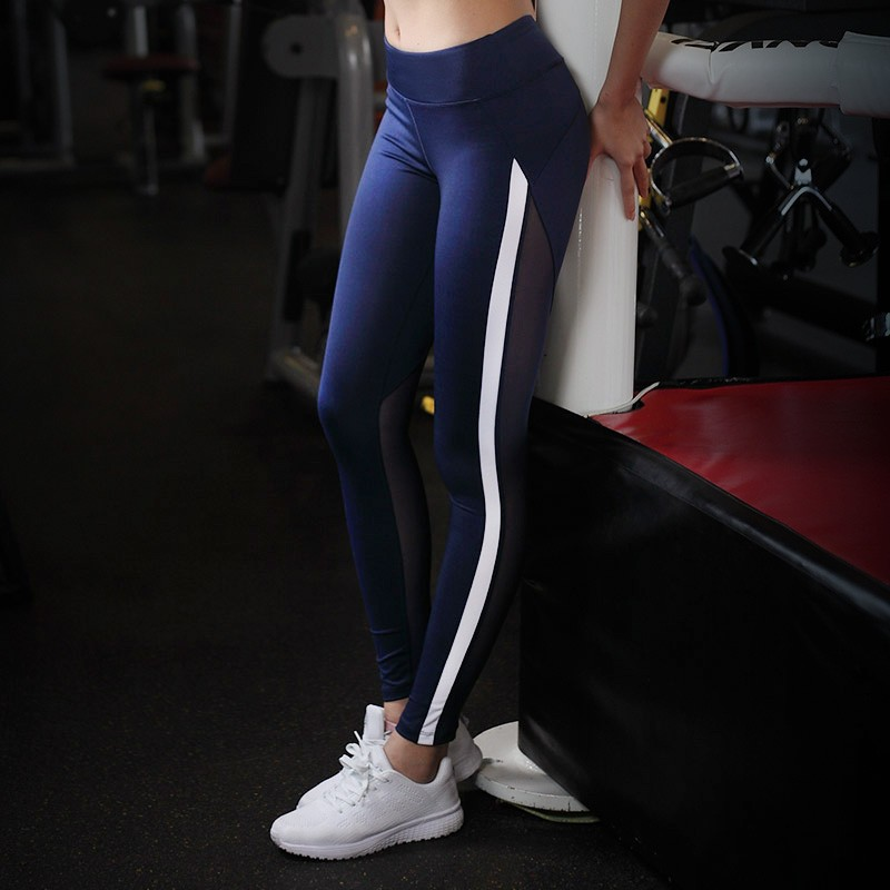 Ladies High Elasticed Fitness Yoga Sport Pants Breathable Stretch Cropped Leggings