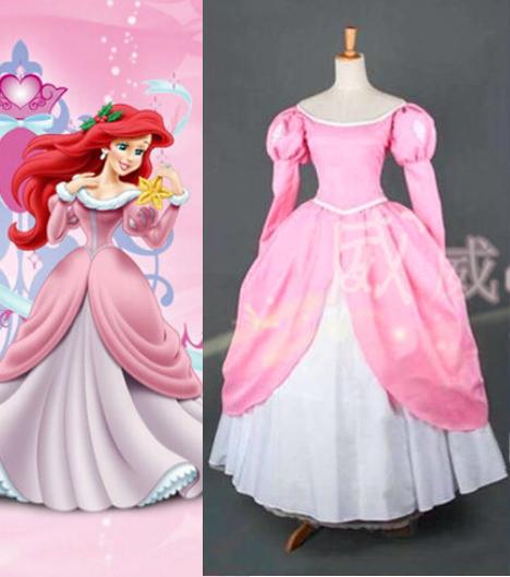 Sirenita Ariel De Vestido Rosa Imagui