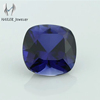 dark blue no.34 square cushion artificial sapphire price