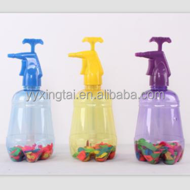 hot sale 3 in 1 water balloon pumper air pressure sprayer with 500pcs balloon