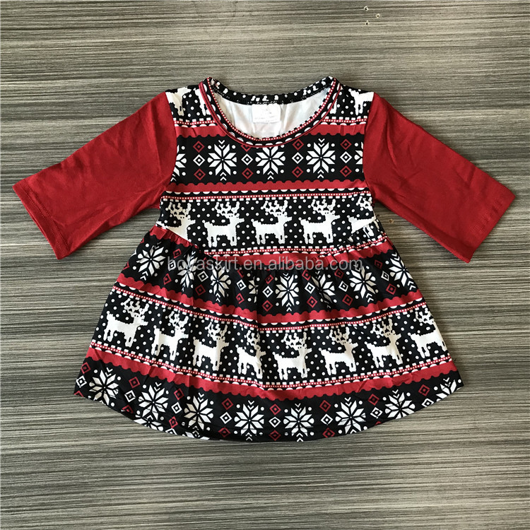 New fashion dress kids elegant princess dresses babies red christmas dress for girls