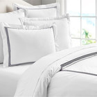 High Quality Egyptian Cotton Sateen Hotel Stitch Embroidery Duvet Cover Set