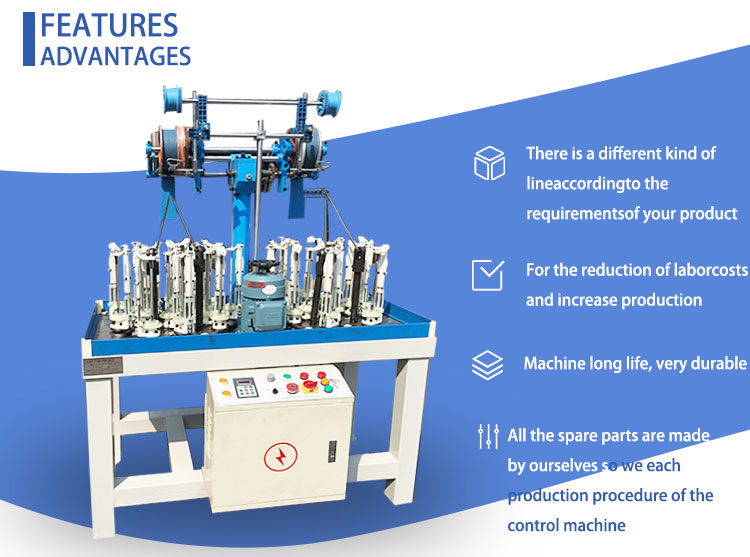 Custom high speed computerized lace rope braiding machine price