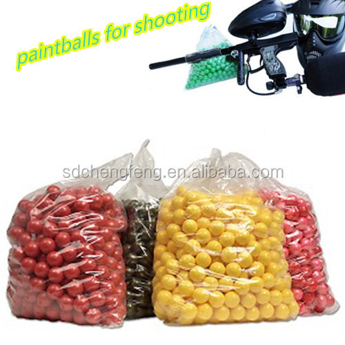 Professional production / quality assurance / price affordable paintballs used for gun shooting game