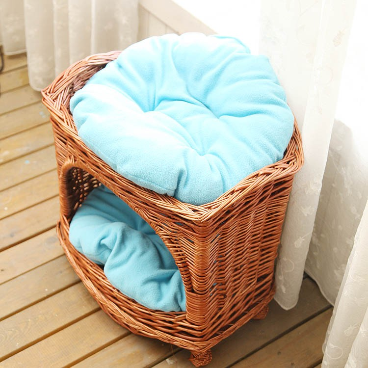 R1902H outdoor indoor durable willow woven pet dog house wicker cat house